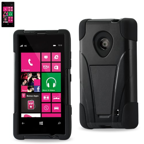 Reiko Silicon Case/Protector Cover for Nokia Lumia 520/521 - Non-Retail Packaging - Black by Reiko (Image #1)