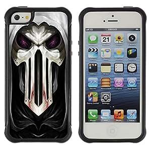 Be-Star único patrón Impacto Shock - Absorción y Anti-Arañazos Funda Carcasa Case Bumper Para Apple iPhone 5 / iPhone 5S ( Cool Goth Skull Mask Scary )