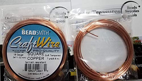 TM 20 Ga Square Copper Wire 25 Ft Modern Findings Dead Soft Coil