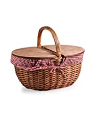 Picnic Time \'Country Picnic Basket\' with Red/White Gingham ...