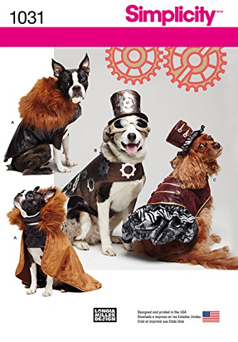 Simplicity Creative Patterns US1031A Dog Costume Coats and Hats, Size A (S-M-L)]()