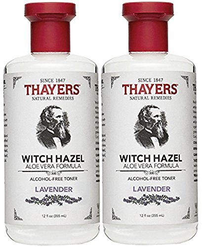 Thayers Alcohol-Free Witch Hazel with Organic Aloe Vera Formula Toner, Lavender 12 oz (Pack of 2) ()