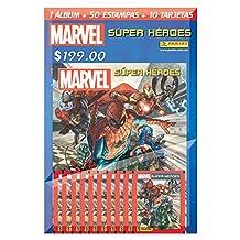 Multiset Marvel Súper Héroes 10. 1 Álbum + 50 estampas + 10 tarjetas