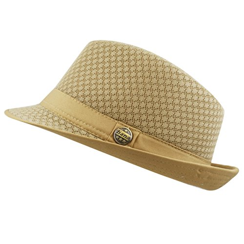 THE HAT DEPOT 200G1015 Classic Cool Soft Mesh Fedora Hat (L/XL, - Size Measurements Hat