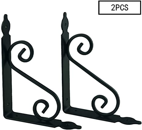 wrought iron shelf ornamental bracket sold in pairs