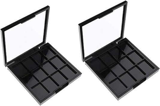 2 Unids Paleta De Sombra De Ojos Vacía Componen La Caja Del Envase Para La Sombra De Ojos Del Maquillaje Del Maquillaje De Los Cosméticos: Amazon.es: Belleza