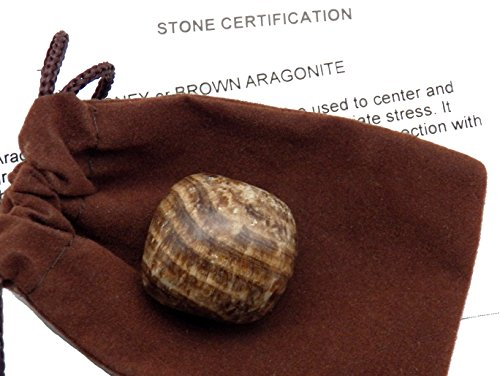 - Fundamental Rockhound Products: Brown or Honey Aragonite Tumbled Stone crystal from Peru (Extra Large)