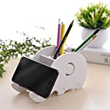Cell Phone Stand For Desk Cute Creative Elephant Tablet Phone Holder Desktop Pen Organizer Pencial Container Box For Smartphone iPhone iPad and Android Devices