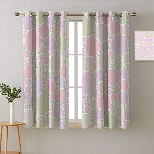 ScottDecor Curtain for Bedroom Grommets Sliding Darkening Curtains Indoor Darkening Curtains Family Darkening Curtains Room/Bedroom(1 Pair, 52