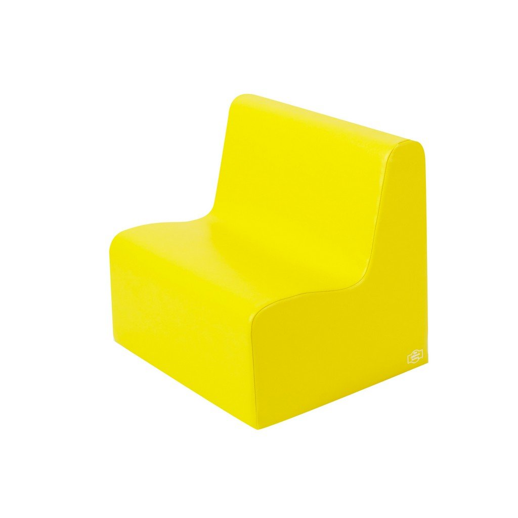 Med. Tot Contour Love Seat - Yellow by Children's Factory (Image #1)