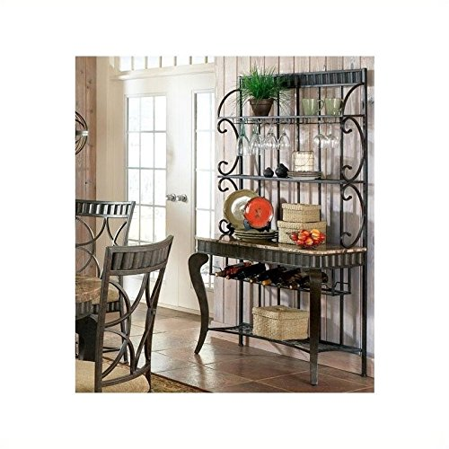 Bowery Hill Marble Top Bakers Rack by Bowery Hill