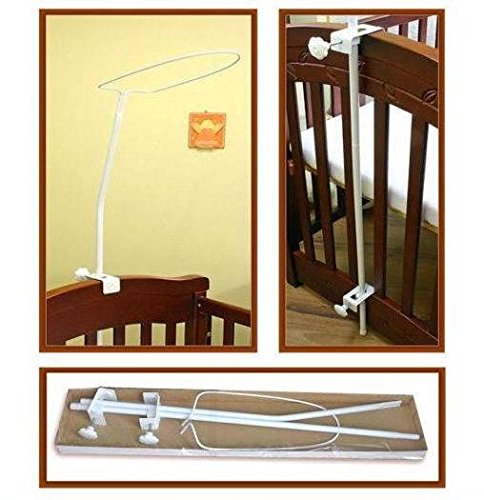 CANOPY / DRAPE HOLDER CLAMP ROD BAR POLE TO FIT COT/ COT BED BabyComfort