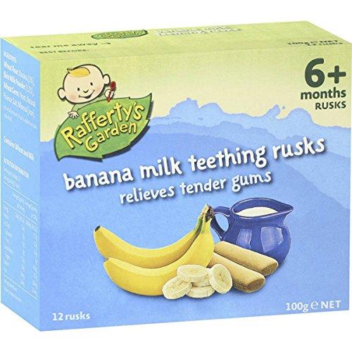 Rafferty's Garden Banana Milk Teething Rusks 100g