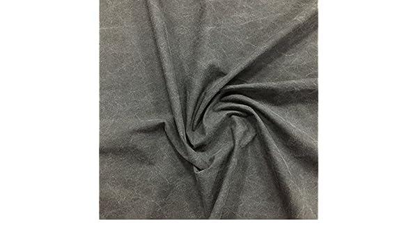 Gris Tela repelente al agua. Un 100% tela de algodón, con un tacto suave Plain impermeable lluvia Material de desgaste. Por Metro.