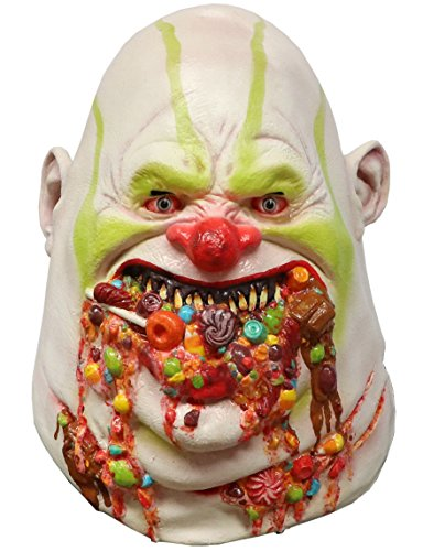 Cheap Scary Masks (Chunk the Clown Scary Adult Halloween Latex Mask FS009)