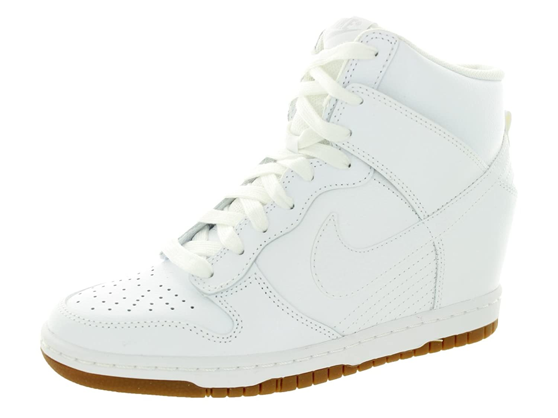 Womens Shoes - Nike Dunk Sky Hi Essential - White/Gum Medium Brown/Wolf Grey/White : Running Shoes B