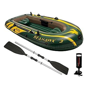 Intex - Barca hinchable Seahawk 2 & remos - 236 x 114 x 41 cm (68347) (modelo variable según imagen) 68347EP