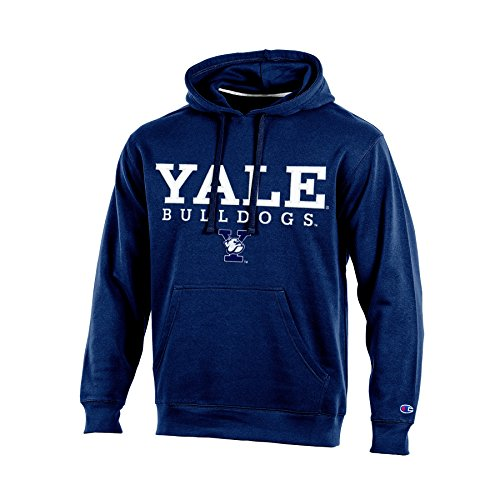 NCAA Yale Bulldogs Adult Men Pullover Hooded Fleece, Small, Navy