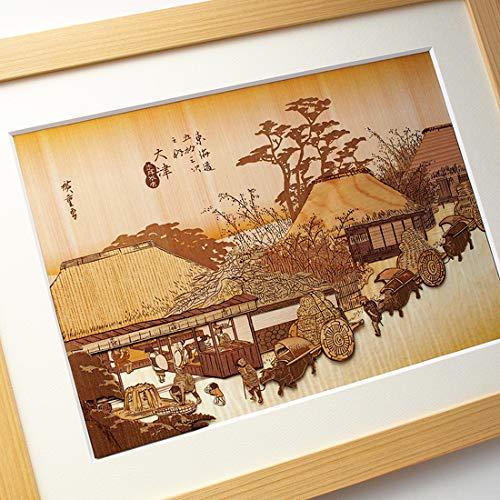 KINOWA Ukiyoe Art Kit Kiharie The Running Well Teahouse at Otsu by Hiroshige Made in Japan by KINOWA (Image #6)