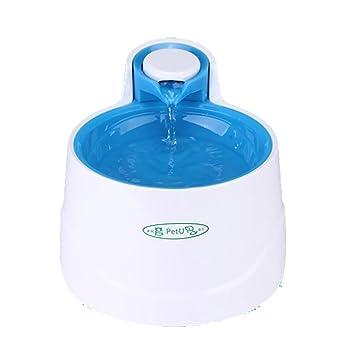 DAN Dispensador de agua automático para perro / gato, fuente de filtro de agua reciclable