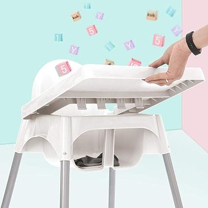 ZXQZ Chaise haute for bébé, chaise de salle à manger blanche