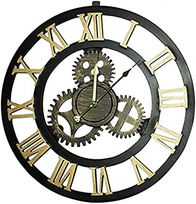 Wall Clock Vintage Industrial Wind Handmade Gear Mute Creative Home Decorations Cafe Personality Decoration. (