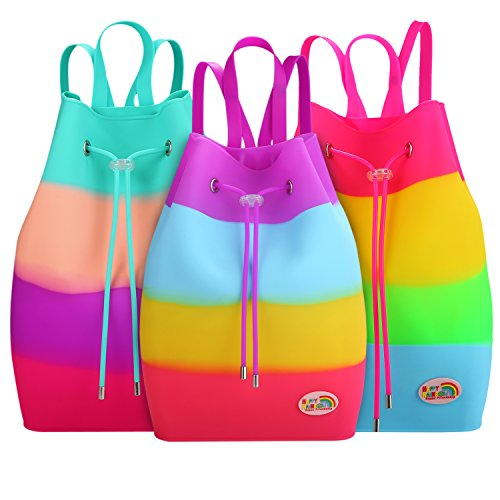 Tutti Waterproof Girls Bag Backpack Silicone Fruit HAPPY RAINBOW Frutti Easy Bag Clean School Multi Occasional Scented Pastille Coloured qBIc6EPcw