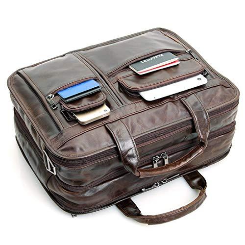 Hommes Man 6 Pouces Chocolate Color Ordinateur Portable For Business À 15 En Imperméable Similicuir Pour Honneury De Sac Bandoulière C7Fx0a