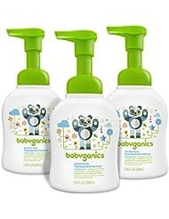 Babyganics Alcohol-Free Foaming Hand Sanitizer, Fragrance Free, 8.45oz Pump Bottle (Pack of 3)