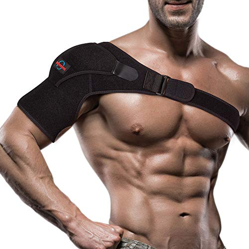Shoulder Brace for Women and Men - Left or Right Shoulder Support Brace for Rotator Cuff AC Joint Dislocated Shoulder - Adjustable Neoprene Compression Shoulder Sleeve