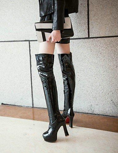 pour décontracté Chaussons Chunky Talon pour de Mode Femme Chaussons Bottes Plate Citior Cuir Chaussures Femme Forme red d6q8dw