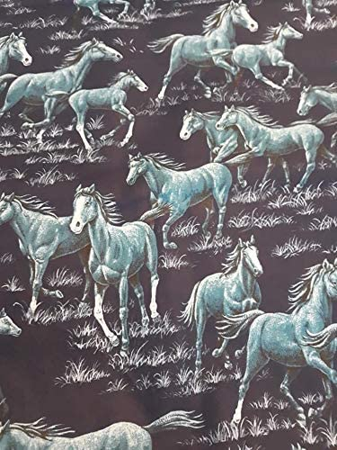 Country Snuggles Valance Curtain Panel Horses Pasture 42 W x 50 L