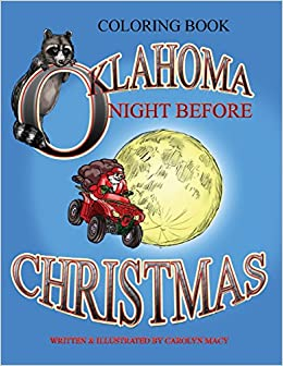 Oklahoma Night Before Christmas Coloring Book