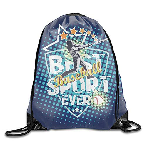 Adjustable Folding Sport Backpack Drawstring Bag Baseball Best Sport Home Travel Storage Use by OUTTO