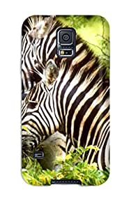 (dJmUTGv3755fWbHN)durable Protection Case Cover For Galaxy S5(zebras)