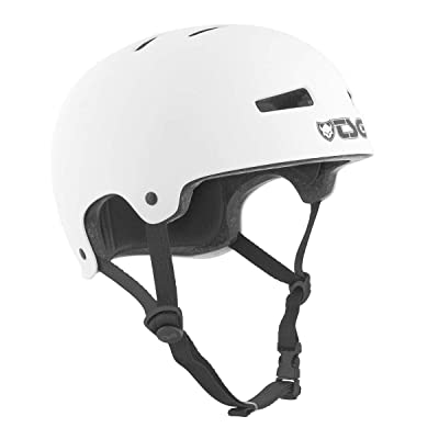 TSG Evolution Skate & Bike Helmet in Satin White w/Snug Fit & Triple Cert. for Skateboarding, Cycling, MTB, Park Skating, Roller Derby, and Scooter : Sports & Outdoors