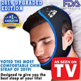 Anti Snoring Chin Strap [ Upgraded 2019 Version ] - Anti Snoring Devices for Men and Women - Voted The Most Comfortable Snoring Solution Device, Adjustable Snore Stopper.