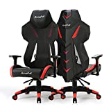 Gaming Chair, AutoFull Video Game Chair, Breathable Mesh Back Reclining Gaming Chair for Adults with Pillow and Lumbar Cushion (1, Pack)