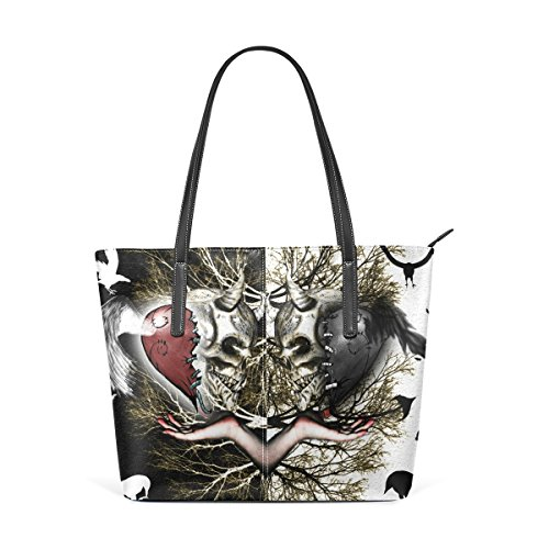 Skulls Wo Tote Multicolore Unique Halloween Shoulder Femme Handbag Leather Pu Sugar Taille Large For Rose Deyya w8IxgZ7qZ