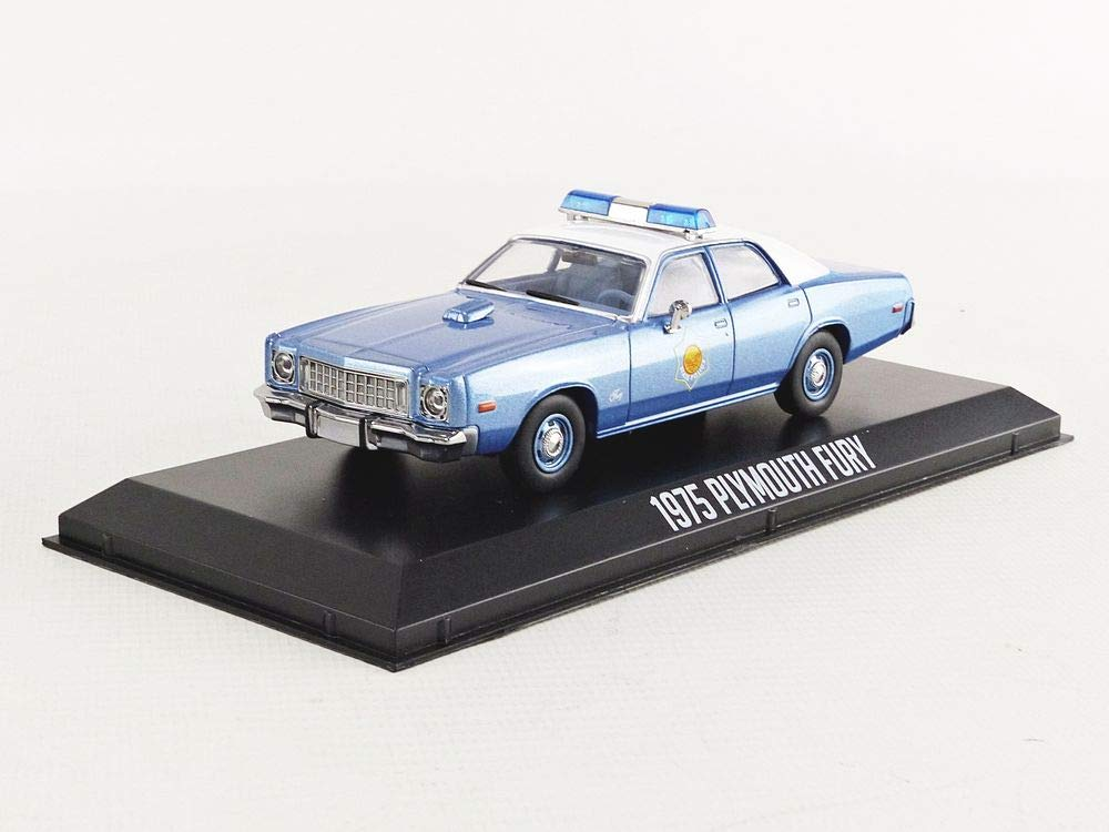 1975 Plymouth Fury Arkansas State Police Smokey and The Bandit (1977) Movie Blue with White Top 1/43 Diecast Model Car by Greenlight 86536 B07LCYJR6J