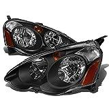 2002 rsx headlight assembly - Acura RSX DC5 Pair Black Housing Amber Corner Headlight Assembly Kit