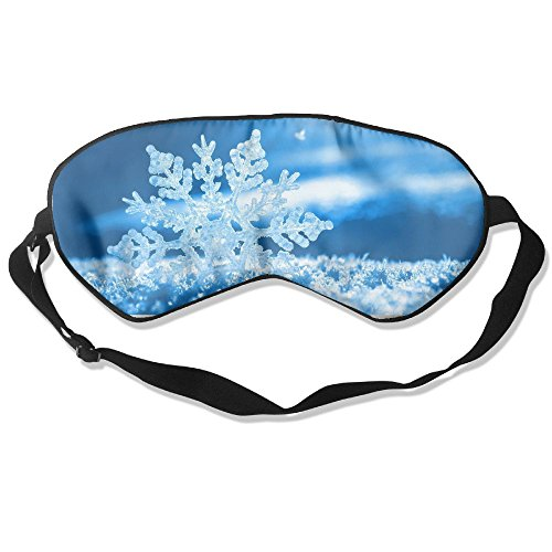 Sleep Mask Christmas Blue Snowflake Eye Cover Blackout Eye Masks,Soothing Puffy Eyes,Dark Circles,Stress,Breathable Blindfold For Women Men (Family Circle Halloween Costumes Ideas)