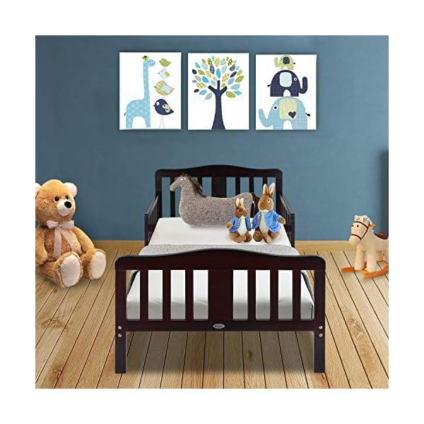 Bonnlo Contemporary Wooden Toddler/Kid Bed Frame Kids Bedroom Furniture 2