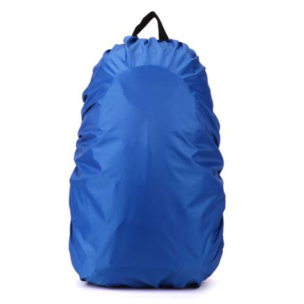 SODIAL(R) New Waterproof Travel Hiking Accessory Backpack Camping Dust Rain Cover 35L, Blue