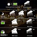 Solar LED Street Light Outdoor, Auto On/Off Dusk to