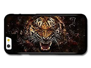 AMAF ? Accessories Angry Tiger Breaking Glass Illustration case for iPhone 6