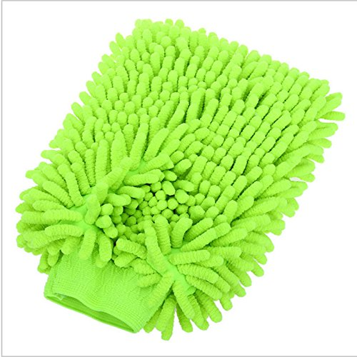 Popsport Microfiber Car Window Washing Home Cleaning Cloth Duster Towel Gloves (Green)