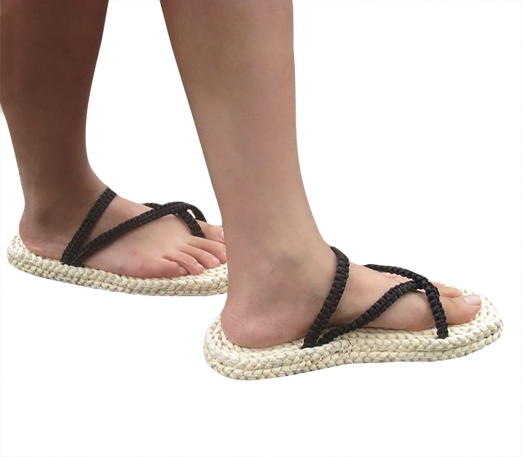 DAZCOS Adult/Kids Handmade Luffy Straw Sandals Cosplay Shoes[US 4 - US 13] (US 10-11) by DAZCOS (Image #3)