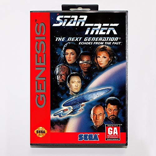 Star Trek The Next Generation Echoes from The Past 16 Bit Md Game Card with Retail Box for Sega Mega Drive for Genesis (Sega Genesis Ebay)