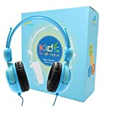 Fanxieast Kids Headphones with 85dB Volume Limited Hearing Protection Function, Kids Friendly Safe Food Grade Material,Wired On-Ear Headphones for Children Toddler Baby (Blue)
